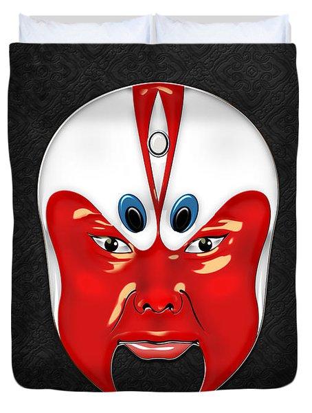 Peking Opera Masks - Wen Zhong Duvet Cover
