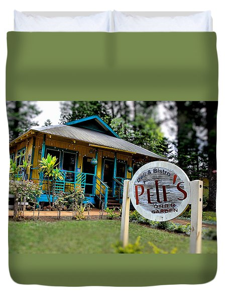 Pele's Lanai Style Duvet Cover by DJ Florek
