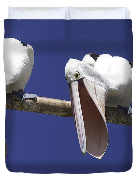Pelican Burp Duvet Cover