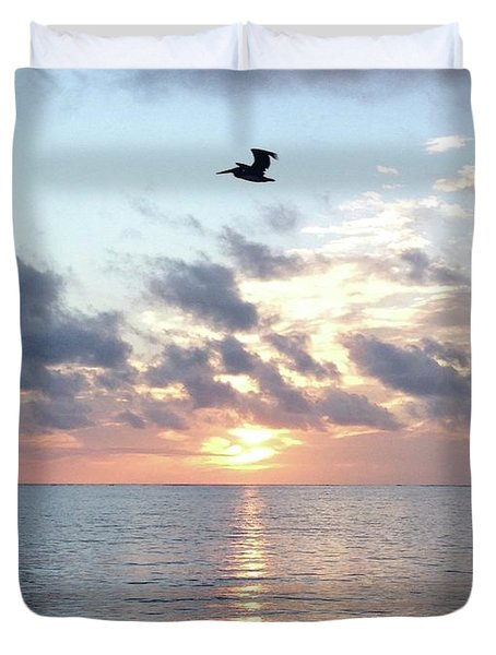 Pelican Dawn Duvet Cover