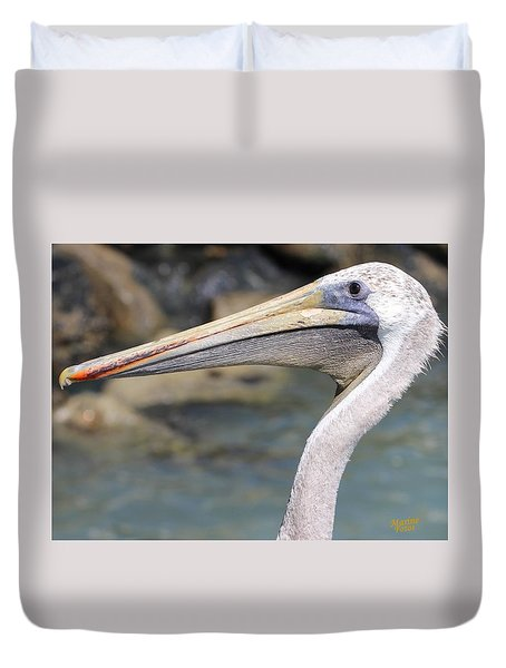 Pelican Face  That Only A Mother Could Love Duvet Cover