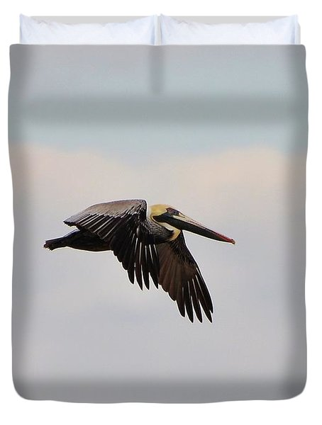 Pelican Flight Duvet Cover by Al Powell Photography USA
