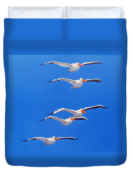 Pelican Friends Duvet Cover