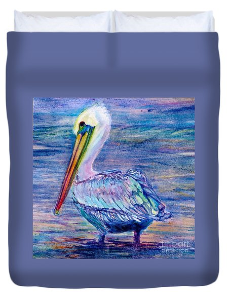 Pelican Gaze Duvet Cover