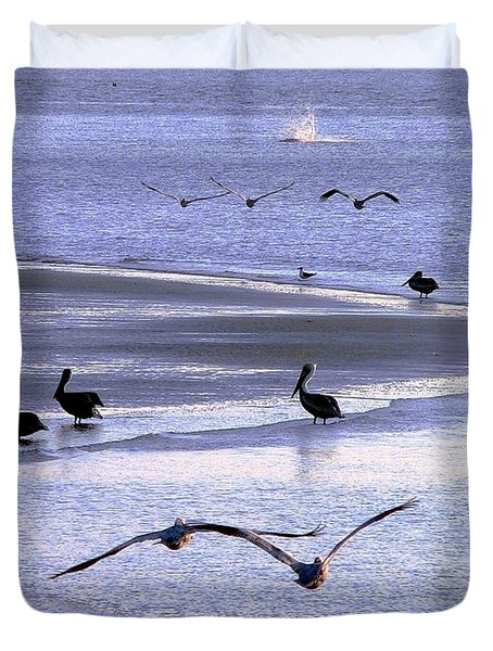 Pelican Island Duvet Cover by Al Powell Photography USA
