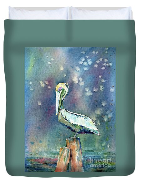 Pelican Duvet Cover by Mary Haley-Rocks