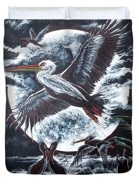 Pelican Moon Duvet Cover by Scott and Dixie Wiley