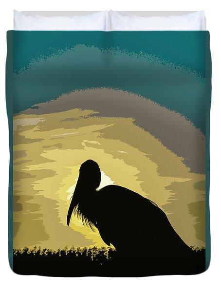 Pelican Paint Duvet Cover