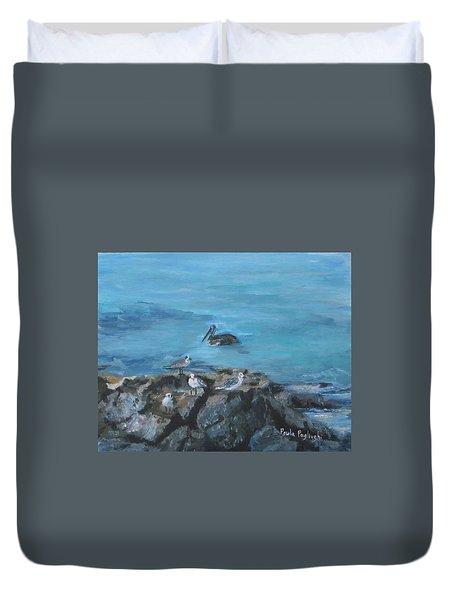 Pelican Patrol Duvet Cover