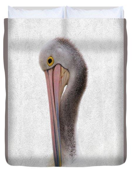 Pelican Portrait 001 Duvet Cover