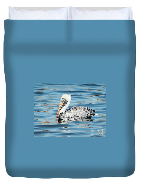 Pelican Relaxing Duvet Cover by Scott and Dixie Wiley