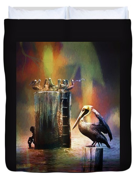 Pelican Ways Duvet Cover