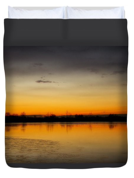 Pella Ponds  December 16th Sunrise Duvet Cover by James BO  Insogna