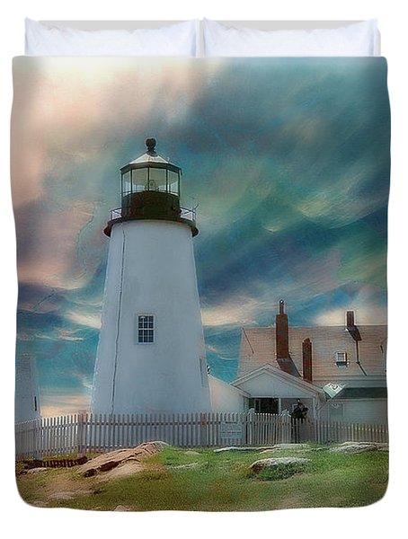 Pemaquid Lighthouse,maine Duvet Cover