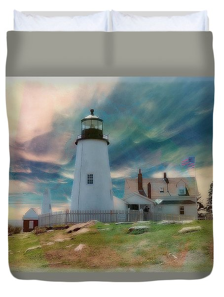Pemaquid Lighthouse,maine Duvet Cover