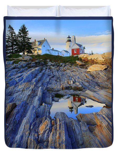 Pemaquid Point Light Reflections Duvet Cover