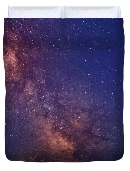 Pemaquid Point Lighthouse And The Milky Way Duvet Cover