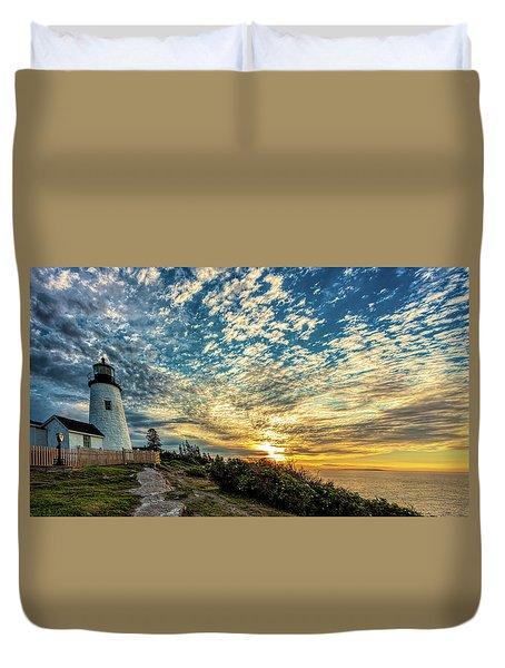 Pemaquid Point Lighthouse At Daybreak Duvet Cover
