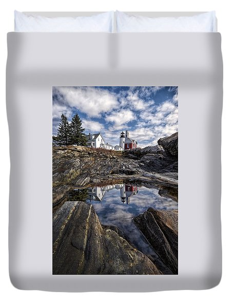 Duvet Cover featuring the photograph Pemaquid Reflected by Jaki Miller