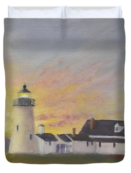 Pemaquid's First Light Duvet Cover