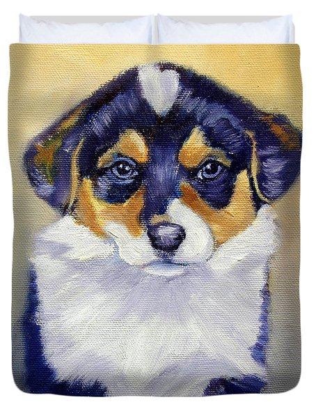 Pembroke Welsh Corgi Pup Duvet Cover