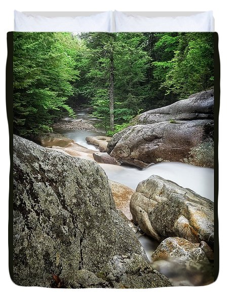 Pemi Above Basin Duvet Cover by Michael Hubley