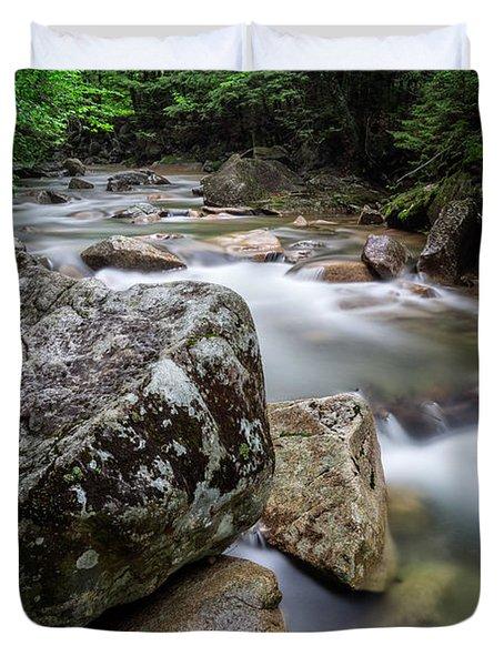 Pemi-basin Trail Duvet Cover by Michael Hubley