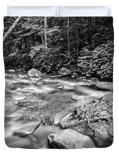 Pemi River Black-white Duvet Cover