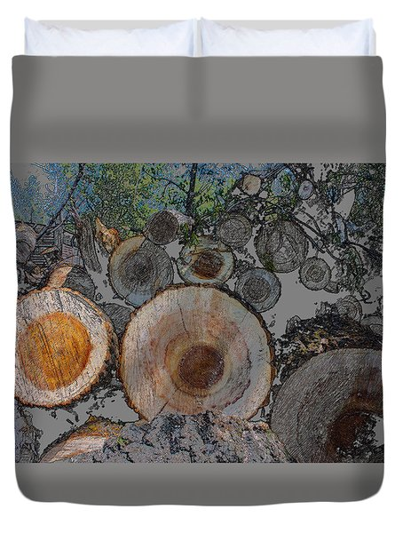 Pencil Colour Log Pile Duvet Cover