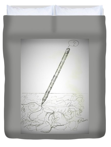 Duvet Cover featuring the drawing Pencil Drawing by Denise Fulmer