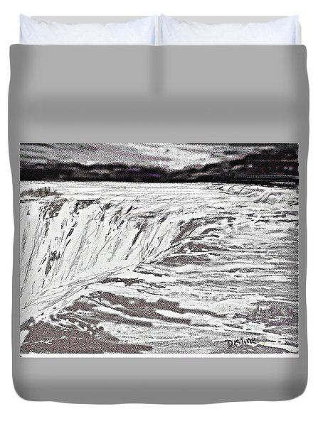 Pencil Falls Duvet Cover