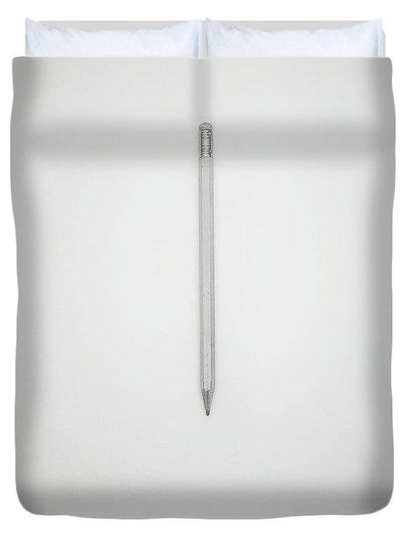 Pencil On A Blank Page Duvet Cover