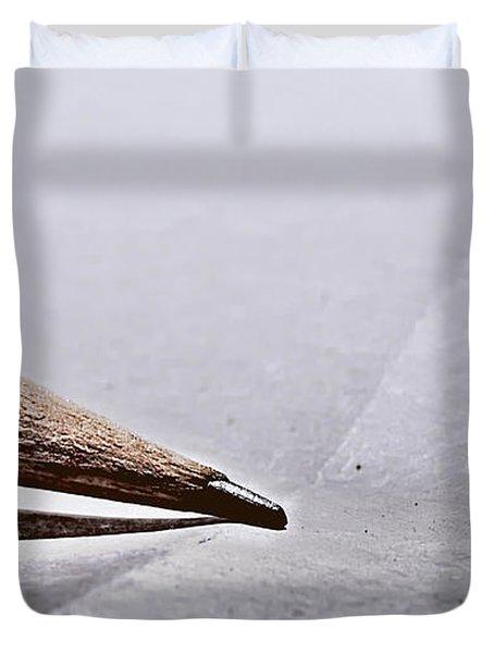 Pencil On Paper Duvet Cover