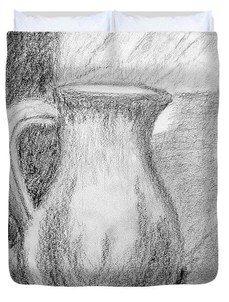 Pencil Pitcher Duvet Cover by Jamie Frier