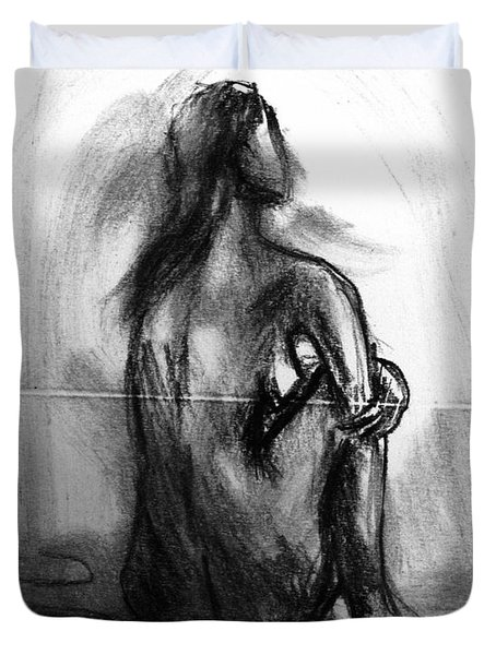 Pencil Sketch 2 Duvet Cover