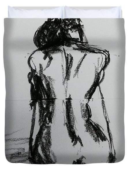 Pencil Sketch 3 Duvet Cover