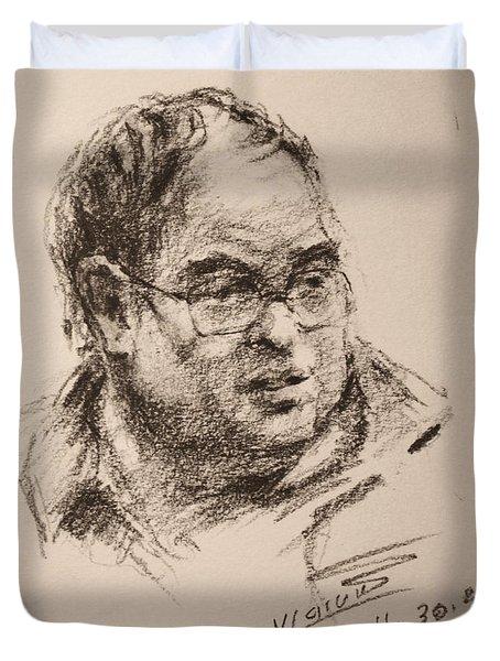 Sketch Man 8 Duvet Cover