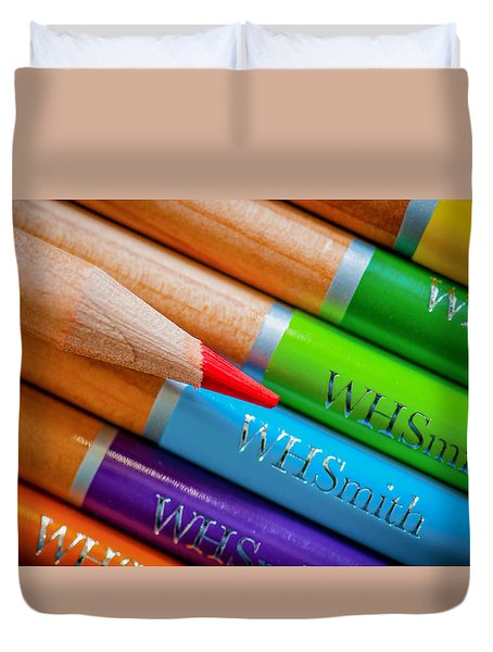 Pencils 3 Duvet Cover