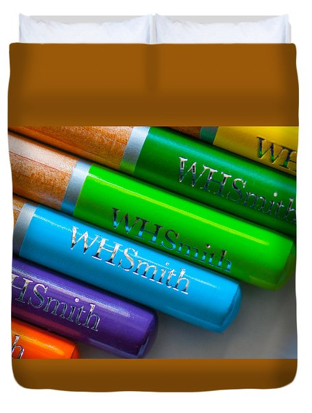 Pencils 5 Duvet Cover