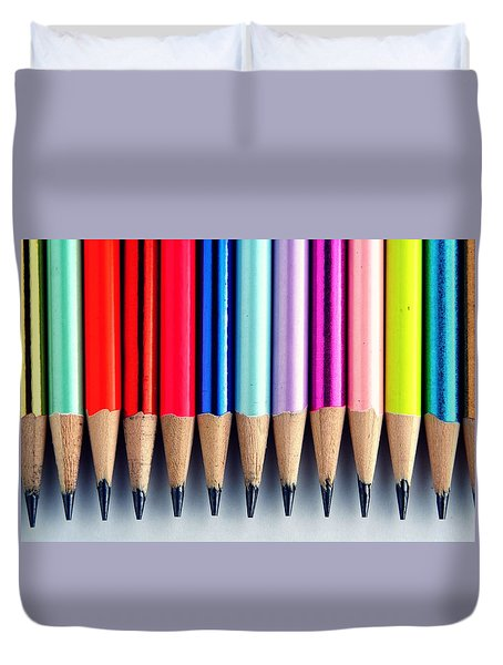 Pencils Duvet Cover