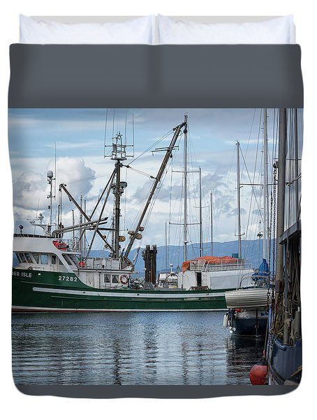 Pender Isle At French Creek Duvet Cover by Randy Hall