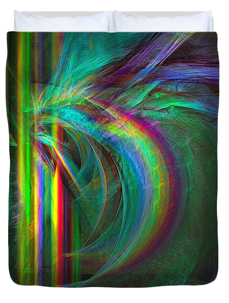 Penetrated By Life - Abstract Art Duvet Cover