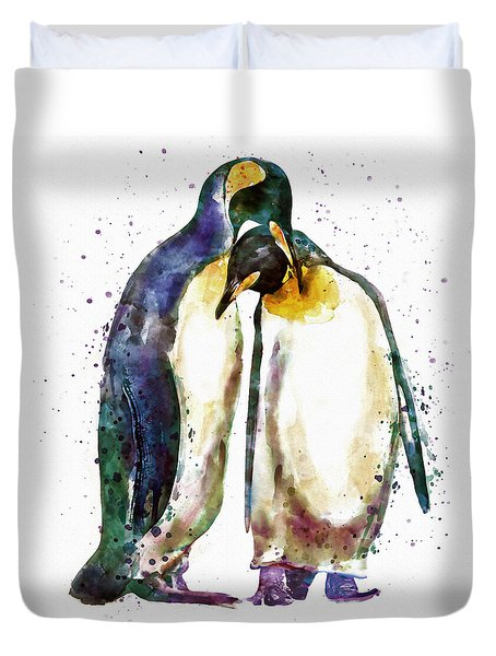 Penguin Couple Duvet Cover