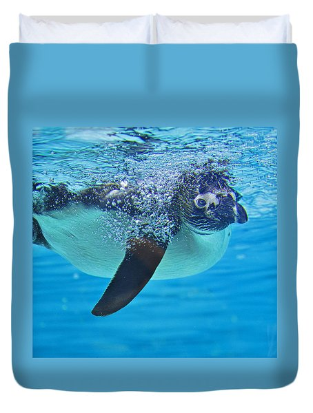 Penguin Dive Duvet Cover
