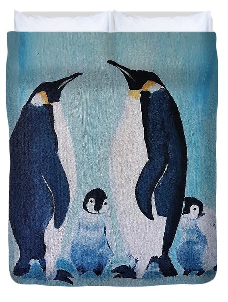 Penguin Family  Duvet Cover