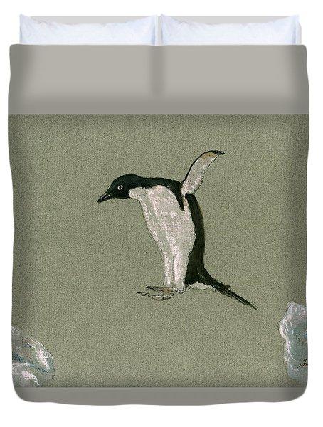 Penguin Jumping Duvet Cover