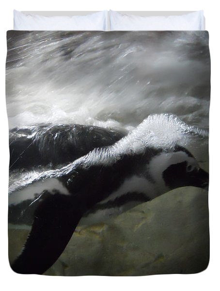 Penguin Duvet Cover by Maggy Marsh