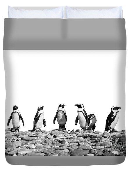 Penguins Duvet Cover by Delphimages Photo Creations