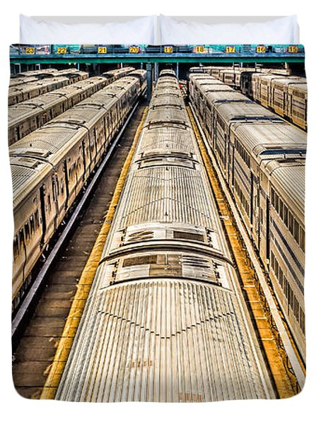 Penn Station Train Yard Duvet Cover