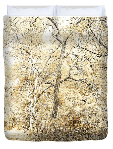 Pennsylvania Autumn Woods Duvet Cover
